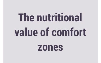 Nutritional value of comfort zones