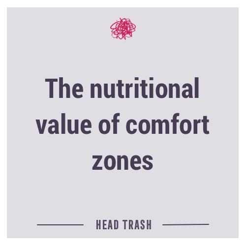 Nutritional value of comfort zones